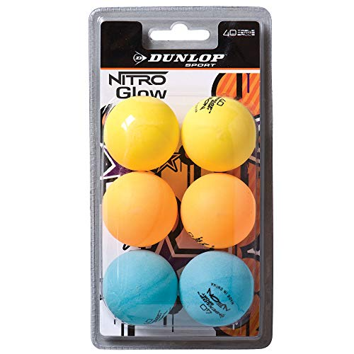 DUNLOP 6 Balles Tennis de Table BL 40+ Nitro Glow