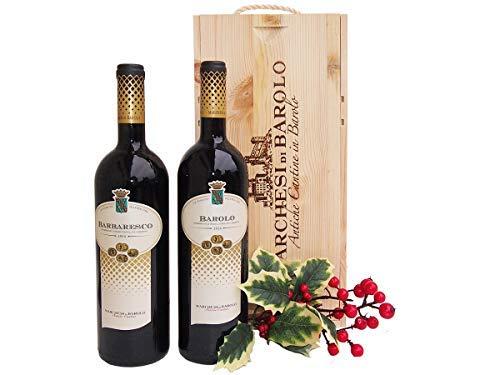 Cassetta Regalo Vini Barolo Barbaresco gli Intramontabili Cantina Marchesi di Barolo - Idea Regalo Vini Pregiati del Piemonte - cod 160