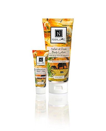 N Nabila K Safari At Dusk Body Lotion, with Aloe Vera and Vitamin E, Moisturizing & Healing, 6.7 ounces
