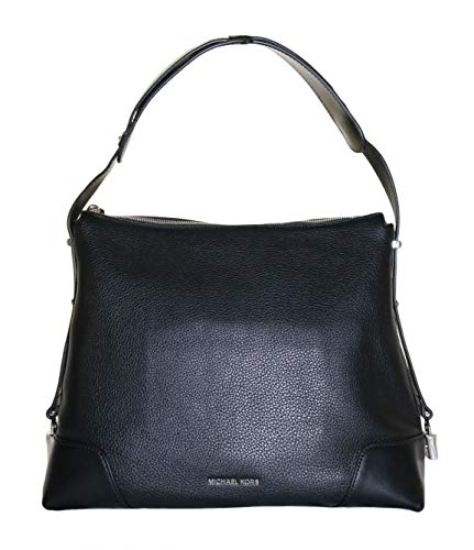 "Zip top closure ; Leather ; Silver-tone hardware Polyester lining ; Interior : 1 back zip pocket, 1 back slip pocket, 4 front slip pockets Approx. dimensions: 14""W X 11.25""H X 5.5""D Adjustable handle has two positions. Position 1 drop: 6.75"". Positio..."