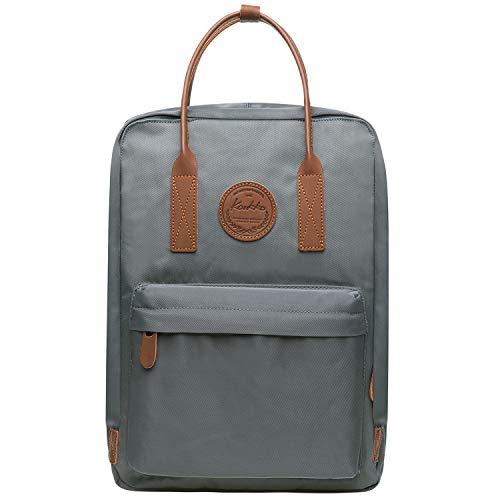 KAUKKO Laptop Rucksack Einfacher und Unisex Daypack Handtasche für Schul Reisen für 12 Zoll Notebook,28 * 14 * 40cm/ 16L (Grau [K1007-2])