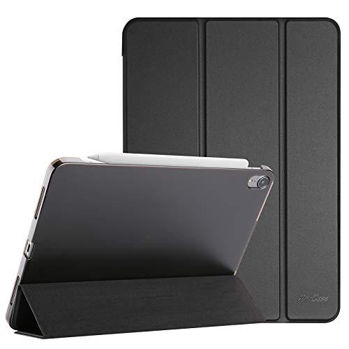 ProCase Hülle für iPad Air 4 Generation 10.9 Zoll 2020, Schutzhülle Case(Unterstützt 2. Gen iPencil Aufladen), Ultra Dünn Leicht Ständer Schal Smart Cover mit Transluzent Frosted Rück –Schwarz