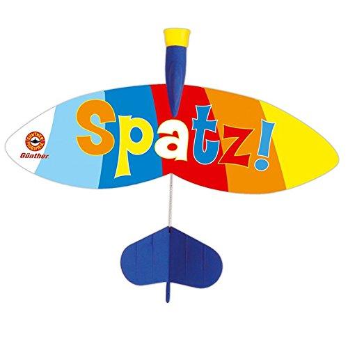 Katapult Flieger Spatz 24x20cm Schleudersegler Segler Wurfspiel Katapult Flieger Flugzeug