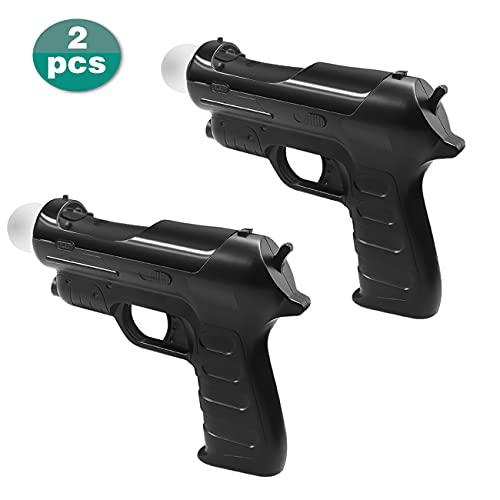 AWJGVBOY Sony PS4 VR MOVE Pistola de luz con mango somatosensorial PS VR Gun PSVR Disparo auxiliar compatible con PS3 Accesorios de mango de controlador somatosensorial PS4 Move,2 piezas