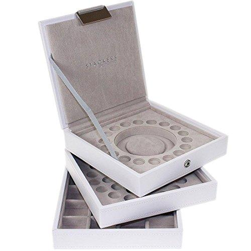 Charm Stackers Schmuckschatulle, für Bettelarmband und Charm-Anhänger, Weiß Perfekt für einzelne Anhänger