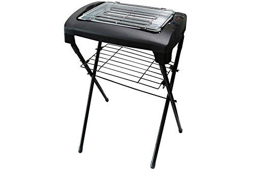 Kynast Barbecue électrique sur pied avec support Noir 2000 W