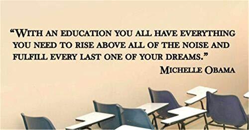 Wandaufkleber Kinderzimmer Klassenzimmer Dekor Klassenzimmer Aufkleber Michelle Obama Träume Lehrer Klassenzimmer Zitat Vinyl Aufkleber Aufkleber Schule Wandaufkleber