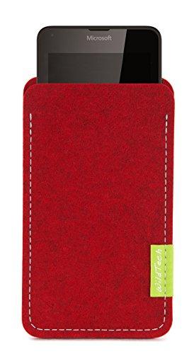 WildTech Sleeve für Microsoft Lumia 640 XL Dual SIM Hülle Tasche - 17 Farben (made in Germany) - Kirschrot