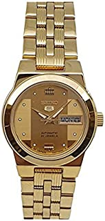 Seiko automatic 21 Jewels Calendar golden Stainless steel ladies watch SYMB70J