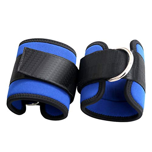 LIOOBO 2pcs Tobilleras Deportivas para Cable máquinas para Entrenamiento de piernas y glúteos en polea (Azul)