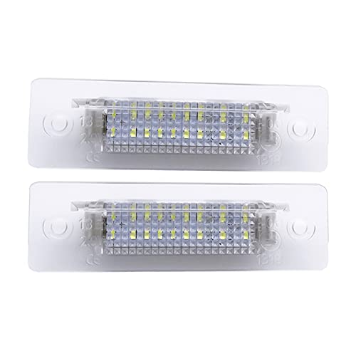 YULUBAIHUO 2 Pcs Transparent Frame Car LED Number License Plate Light Lamp Fit For Porsche Cayenne 996 986/911 Carreravo 3528SMD