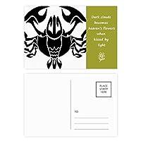 星座蟹座の黄道帯のシンボル 詩のポストカードセットサンクスカード郵送側20個