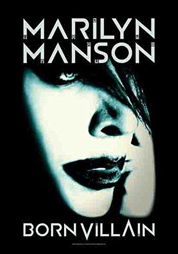 Manson, Marilyn – Born Villain – poster drapeau 100% polyester – Taille 75 x 110 cm