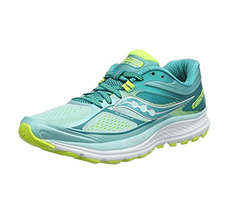 Saucony Women's Guide 10 W Competition Running Shoes, Turquoise (Cinnamon), 4.5 UK, 37.5 EU