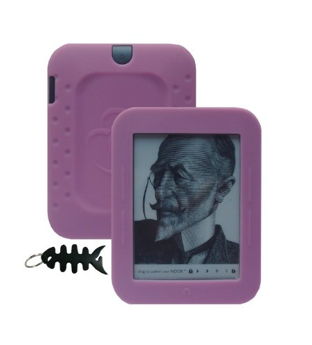iShoppingdeals - for Barnes & Noble NOOK Simple Touch Reader Wi-Fi 2nd Generation (BNRV300) Soft Silicone Cover Case Skin, Pink