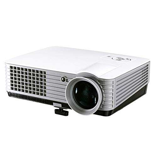 N / A Mini proyector Mini proyector LED, 800 * 600 1800 lúmenes Ayuda USB/VGA/HDMI/AV/TV, for Cine en casa (Negro)