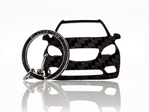 BlackStuff Carbon Karbonfaser Schlüsselanhänger Kompatibel mit Mokka BS-796