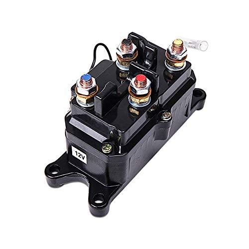 LIEBMAYA 12V 250A Seilwind Relais Magnetschalter Schwerlast-Relais für 2000lbs-5000lbs ATV, UTV, SUV