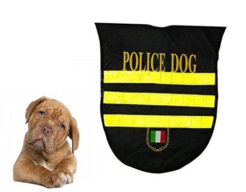 takestop® Politiekam, maat S/small jurk mantel waterdicht reflectoren voor honden sport dog adhesie