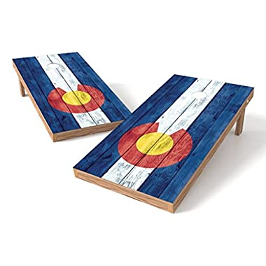 PROLINE Colorado State Flag Cornhole Set - Vintage Design