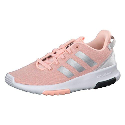adidas Unisex-Kinder Cloudfoam Racer TR Sneaker, Pink (Haze Coral/Silver Metallic/Footwear White), 29 EU