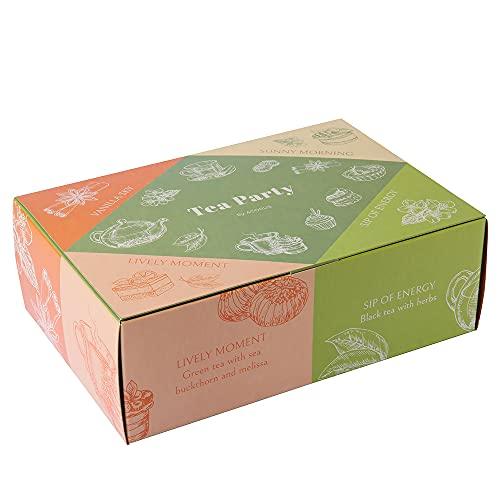 ACORUS Tee Party Set - natürliches Früchtetee-Set mit sechs verschiedenen Geschmacksrichtungen in der schönen Geschenkbox (40 Teebeutel)
