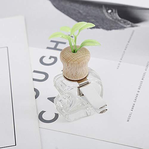 Goquik Perfume de Coches Clip Hierba Olor del ambientador de Aire Auto de la decoración Salida de la Botella vacía Vent Ornamento Regalo de Accesorios Sin Perfume (Color : Apple)