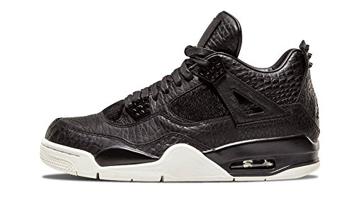 Nike Herren Air Jordan 4 Retro Premium Fitnessschuhe, Grau, Schwarz (Sail), 46 EU