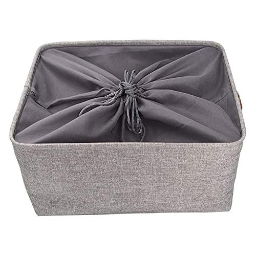 HDHUIXS Cesta de almacenamiento de gran capacidad, se utiliza para plegar la caja de almacenamiento de lona de armario, vestuario y armario (tamaño XL)