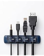 Anker 結束バンド式 ケーブルホルダー (Easy-Fastening Cable Holder) 面ファスナー ライトニングケーブル USB-C ケーブル Micro USB ケーブル 他対応 (ブルー)