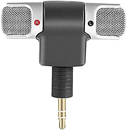 Goldyqin Mini Microfono Stereo Digitale Mini Microfono da 3,5 mm Mini Jack per PC Notebook Portatile Registrazione Stereo Canale Destro e Sinistro - Nero - Trova i prezzi più bassi