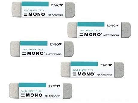Tombow Mono Sand Eraser (ES-512A) 5Pack Value Set