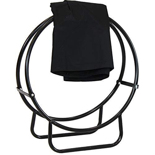 Our #3 Pick is the Sunnydaze Outdoor Firewood Log Hoop and Cover Set