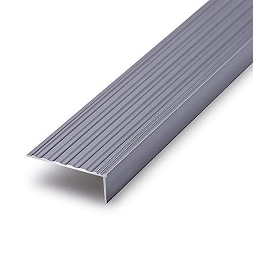 Cierre de Escaleras 1.2M Longitud L Forma de Aluminio Anti Deslizamiento Sin Deslizamiento Rose 50x20mm ángulo Escaleras de Borde de escalones Anti-Collision Angle 2 PCS Exterior e Interior