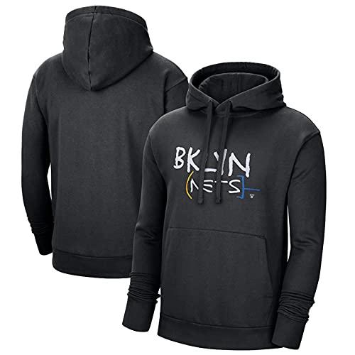 JUQI Sudadera con capucha Brooklyn Nets para hombre y mujer, Brooklyn Nets # 11 Kyrie Irving con capucha de baloncesto, sudadera con capucha de rendimiento de baloncesto, color negro