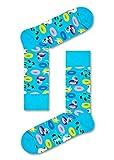 Happy Socks, bunt klassische Baumwolle Socken für Männer & Frauen, Blaue, Pool Party (41-46)