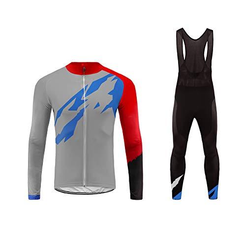 Uglyfrog Radtrikot Cycling Jersey oder Outdoor Sports männlich Gemütlich Radtrikot Langarm +Lange Hosen Set Herren Fahrradbekleidung Winter