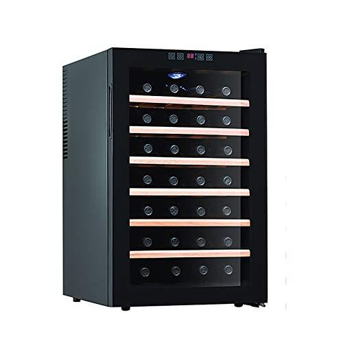 Enfriador de vino Refrigerador de 28 botellas integrado o independiente Refrigerador de vino con puerta de vidrio templado de tres capas Ahorro de energía Funcionamiento silencioso Control táctil
