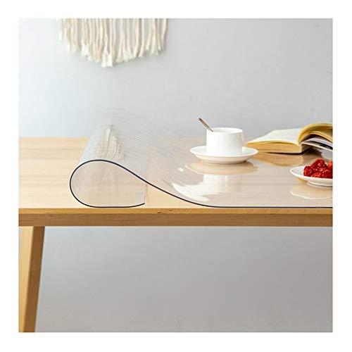 LICHUN Transparent Nappe De Table À Toute Épreuve Housse De Table De Cuisine Imperméable Plastique Tapis De Cuisine Et De Sol, Format Personnalisé (Color : 2MM, Size : 100x180cm)