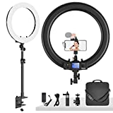 Dazzne Ring Light with Stand C-Clamp, 19 Inch Ring Light Kit: 55W 3000-5800K CRI≥97 Light Ring for Vlogging Selfie-Portrait Live Stream Video Conference Photography Shooting