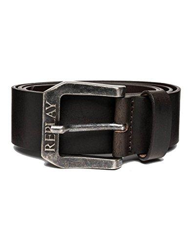 REPLAY Am2417.000.a3001 Cintura, Nero (Black Brown 128), 90 Uomo