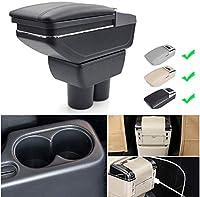 Arzuki Jimny 2015-2018 Armrest Box Car Centerコンソール収納ボックスアームの残り充電機能7 USBポートダブルスペース (Color : Beige)