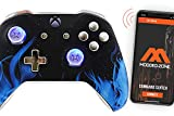 Chromium Blue Fire Smart Rapid Fire Custom Modded Controller for Xbox One S Mods FPS Games and More. Control and Simply Adjust Your mods via Your Phone!