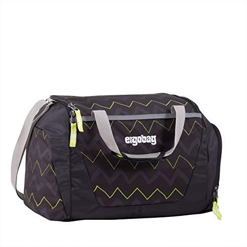 ERGOBAG HorsepowBear Kinder-Sporttasche, 50 cm, 20 Liter, Black Zigzag