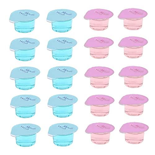 MaylFre Enjuague bucal desechable portátil Limpiador Oral a refrescar el Aliento Goma de Enjuague bucal líquido Salud Dientes higiene Oral Blanqueamiento 20PCS, Enjuague bucal