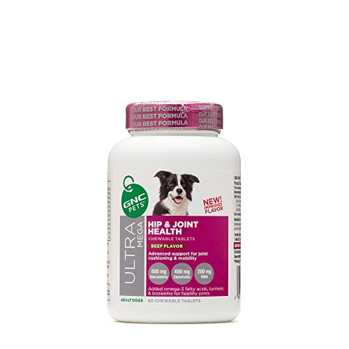 GNC Pets Ultra Mega Hip and Joint Health - Adult Dogs - Beef Flavor, Model: FF14384