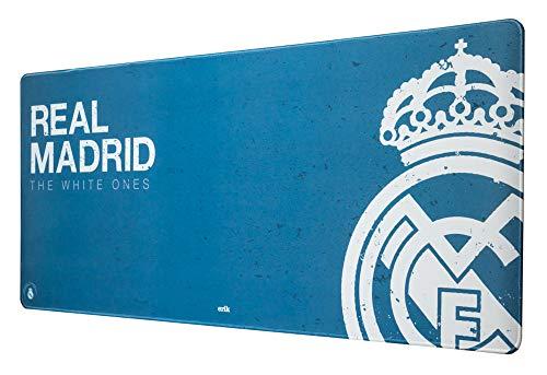 ERIK - Mousepad XXL, Alfombrilla de ratón XXL Real Madrid, Producto oficial, 35x80 cm