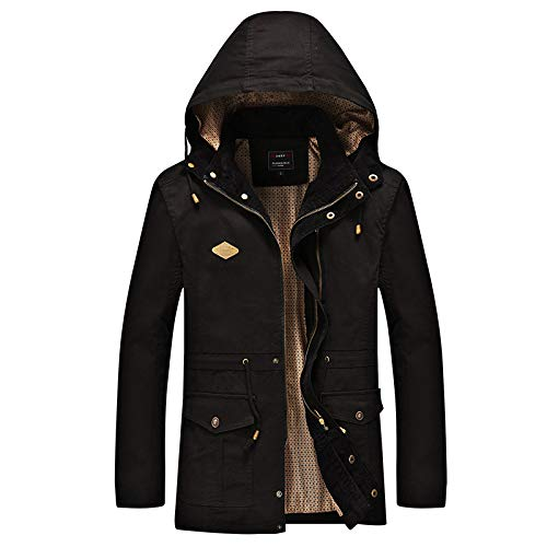 SHUO Large Size Herren Baumwoll-Multitasche Plus samtgepolsterter Baumwoll-Kapuzenanzug, stilvolles Aussehen, große Auswahl an Größen, bringen Wärme in Ihren Winter M