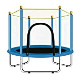 YeTrini 55' Mini Trampoline for Kids Toddler Baby Boys Girls, Indoor or Outdoor Trampoline with Safety Enclosure Net for Children- 4. 5FT - Blue
