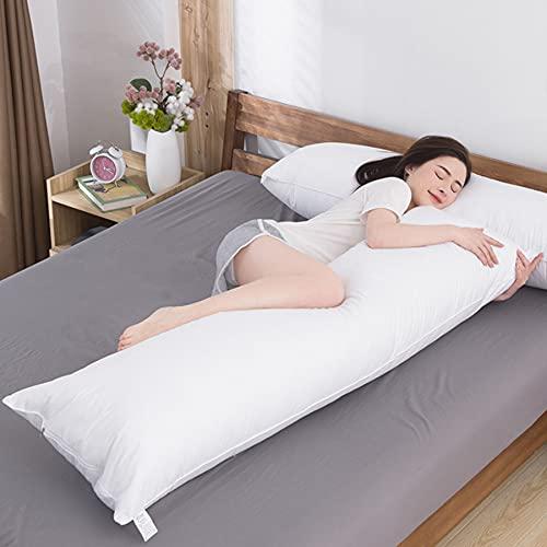 tkone 抱き枕 等身大抱きまくら 高反発 本体 無地 高弾力 気持ちいい 吸汗 速乾 洗える 横寝用抱き枕 160×50cmカバーに適用